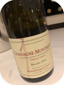 2016 Domaine Jean-Charles Fagot, Chassagne-Montrachet Vieille Vigne, Bourgogne, Frankrig