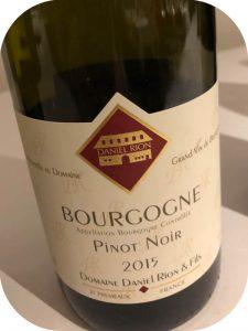 2015 Domaine Daniel Rion & Fils, Bourgogne Pinot Noir, Bourgogne, Frankrig