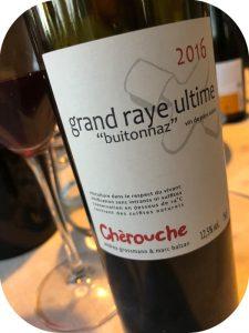 2016 Domaine de Chèrouche, Grand Raye Ultime, Valais, Schweiz