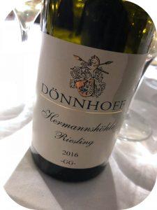 2016 Weingut Dönnhoff, Niederhäuser Hermannshöhle Riesling GG, Nahe, Tyskland