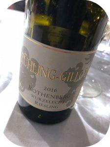 2016 Weingut Kühling-Gillot, Nackenheim Rothenberg Wurzelecht Riesling GG, Rheinhessen, Tyskland