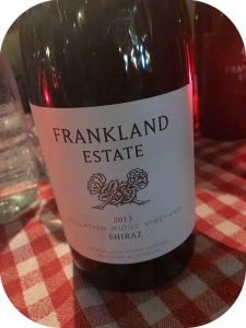 2013 Frankland Estate, Isolation Ridge Vineyard Shiraz, Western Australia, Australien