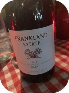 2013 Frankland Estate, Isolation Ridge Vineyard Shiraz, Western Australia, Australien