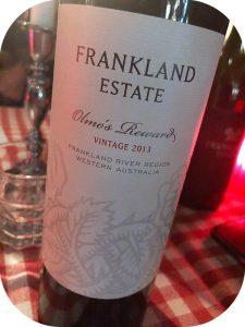 2013 Frankland Estate, Olmo's Reward, Western Australia, Australien