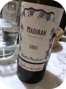 2003 Primo Palatum, Madiran Mythologia, Sud-Ouest, Frankrig
