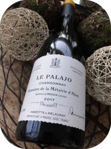 2017 Domaine de la Métairie d'Alon, Chardonnay Le Palajo, Languedoc, Frankrig