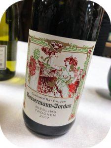 22017 Weingut Geheimer Rat Dr. Von Bassermann-Jordan, Riesling Trocken, Pfalz, Tyskland