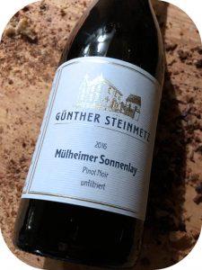 2016 Weingut Günther Steinmetz, Mülheimer Sonnenlay Pinot Noir Unfiltriert, Mosel, Tyskland