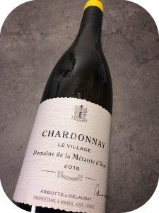 2016 Domaine de la Métairie d'Alon, Chardonnay Le Village, Languedoc, Frankrig