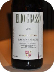 2008 Elio Grasso, Barbera d'Alba Vigna Martina, Piemonte, Italien