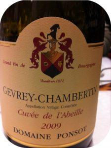 2009 Domaine Ponsot, Gevrey-Chambertin Cuvée l'Abeille, Bourgogne, Frankrig