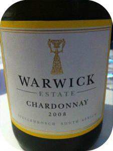 2008 Warwick Estate, Chardonnay, Stellenbosch, Sydafrika