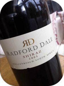 2005 Radford Dale, Shiraz, Stellenbosch, Sydafrika