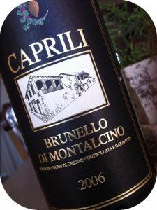 2006 Caprili, Brunello di Montalcino, Toscana, Italien