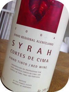2004 Cortes de Cima, Syrah, Alentejo, Portugal