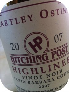 2007 Hartley-Ostini Hitching Post Winery, Pinot Noir Highliner Santa Barbara County, Californien, USA