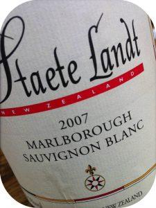 2007 Staete Landt, Estate Grown Sauvignon Blanc, Marlborough, New Zealand