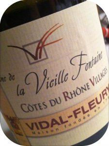 2010 Vidal-Fleury, Vieille Fontaine Côtes-du-Rhône Villages, Rhône, Frankrig