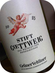 2010 Weingut Stift Göttweig, Grüner Veltliner, Kremstal, Østrig
