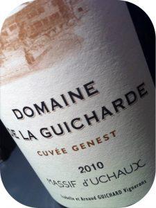 2010 Domaine de la Guicharde, Côtes du Rhône Villages Cuvée Genest, Rhône, Frankrig