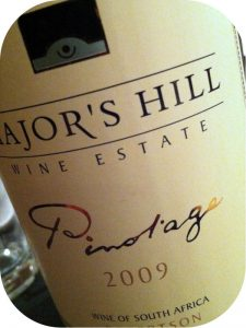 2009 Major's Hill Wine Estate, Pinotage, Western Cape, Sydafrika