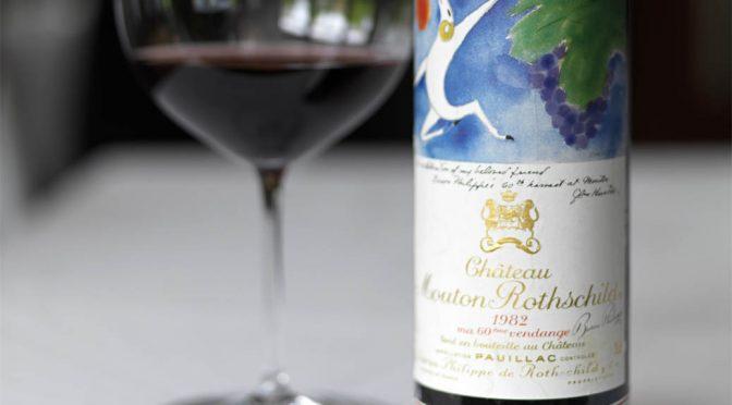 1982 Château Mouton Rothschild, Pauillac 1. Grand Cru Classé, Bordeaux, Frankrig