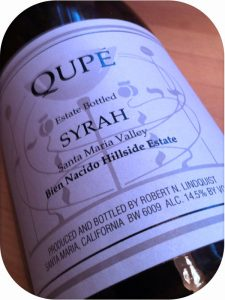 2005 Qupé, Bien Nacido Hillside Estate Syrah, Californien, USA