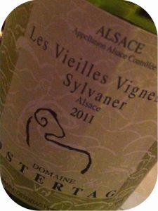 2011 Domaine Ostertag, Les Vieilles Vignes de Sylvaner, Alsace, Frankrig