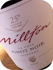 2009 Millton Vineyards, La Cote Vineyard Pinot Noir, Gisborne, New Zealand