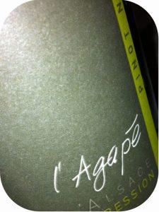 2011 Domaine Agapé, Expression Pinot Noir, Alsace, Frankrig
