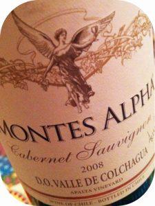 2008 Montes, Alpha Cabernet Sauvignon, Colchagua, Chile