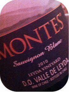2010 Montes, Sauvignon Blanc, Leyda, Chile
