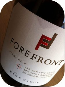 2010 Pine Ridge Vineyards, Forefront Pinot Noir, Californien, USA