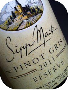 2011 Domaine Sipp Mack, Pinot Gris Réserve, Alsace, Frankrig