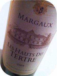 2005 Château du Tertre, Les Hauts du Tertre, Margaux, Bordeaux, Frankrig