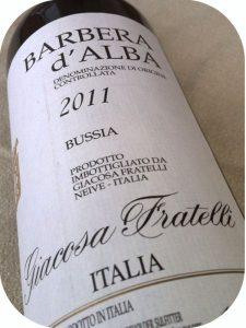 2011 Giacosa Fratelli, Barbera d'Alba Bussia, Piemonte, Italien