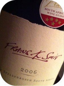 2006 Spier Wines, Frans K Smit, Stellenbosch, Sydafrika