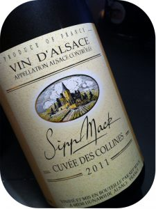 2011 Domaine Sipp Mack, Cuvée des Collines, Alsace, Frankrig