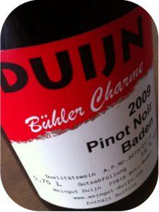 2009 Weingut Duijn, Pinot Noir Bühler Charme, Baden, Tyskland