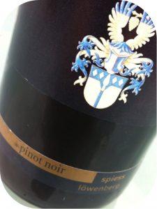 2008 Weingut Spiess, Pinot Noir Löwenberg Selection Alexander von Essen, Rheinhessen, Tyskland