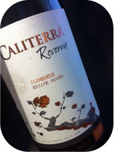 2012 Caliterra Winery, Carmenère Reserva, Colchagua Valley, Chile