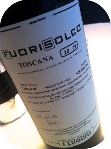2009 I Luoghi, Fourisolco IGT, Toscana, Italien