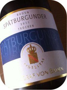 2011 Weingut Markgraf von Baden, Spätburgunder, Baden, Tyskland