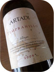2009 Bodegas y Viñedos Artadi, Artadi Tempranillo, Rioja, Spanien