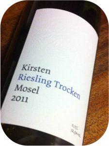 2011 Weingut Kirsten, Riesling Trocken, Mosel, Tyskland