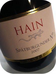 2007 Weingut Kurt Hain, Spätburgunder No. 1, Mosel, Tyskland