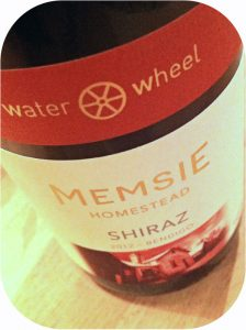 2012 Water Wheel Vineyards, Memsie Homestead Shiraz, Victoria, Australien