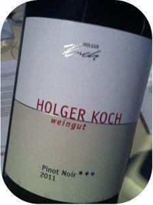 2011 Weingut Holger Koch, Pinot Noir Selection ***, Baden, Tyskland