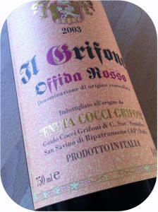 2003 Tenuta Cocci Grifoni, Offida Rosso Il Grifone, Marche, Italien