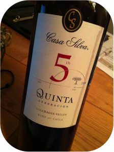 2009 Casa Silva, 5th Quinta, Colchagua Valley, Chile